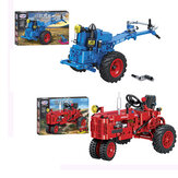 Classic Walking Tractor Car Model DIY Assembly Building Blocks Toys for Children Educational