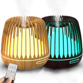 500ml Aroma Diffuser Ultrasonic Humidifier with Colorful Night Light Bluetooth Speaker Remote Control Tming Low Noise for Home Office