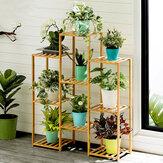 Múltipla camada Planta Prateleira de chão em vaso Planta Rack engrossar sarrafo material respirável para conjuntos de jardim