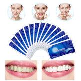 14Pçs / 7Pair 3D Gel Tiras de Branqueamento de Dentes Dente Branco Dental Kit Tira de Higiene Oral para Facetas de Dentes Falsos Dentista Seks