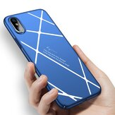 Stripped Lines Padrão Micro Matte Anti Fingerprint Caso Para iPhone X