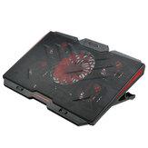 Dispositivo di raffreddamento per laptop da gioco Cinque ventole 2 porte USB Supporto per notebook con pad di raffreddamento per laptop da 2400 giri / min per notebook da 12 '' a 17 ''
