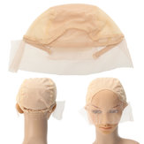 Wig Cap Voor Wig Making Weave Cap Elastic Hair Net Mesh Adjustable Straps