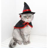 ハロウィンコスチュームペット猫小型犬ヴァンパイアハットケープマントハロウィンコスプレデザインの凝った服ペットの装飾用コスチューム