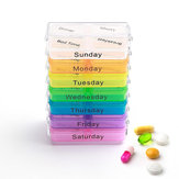 KCASA KC-JS0703 Portable Pill Case Organizer Weekly Travel Medicine Box Tabletten geval houder