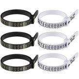 Ferramenta de medição de calibrador de anel de dedo US UK EU JP / KR Tamanho de joias Calibre de liga Ferramenta de medida de anel testador