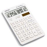 Deli 1548A Calculadora Dupla Fonte de Alimentação Solar e Baterias 12 Dígitos Candy Color Office Solar Mini Aluno Calculadoras Financeiras Especiais
