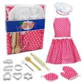 13 Adet Önlük Çocuklar Pişirme Pişirme Seti Mutfak Kız Oyuncakları Şef Rol Oynamak Çocuk Kostüm Oyna Pretend Set Geliştirmek Pratik & Düşünme Yeteneği