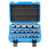 21Pcs 50BV30ソケットインサートキットセットスチール12点8-36mm