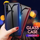 Bakeey Carbon Fiber Gradient Color Tempered Glass Protective Case for Xiaomi Redmi Note 8 Non-original
