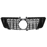 Glossy Black GTR Style Front Grill Grille For Mercedes-Benz ML Class W164 ML320 ML350 ML550 2005-2008