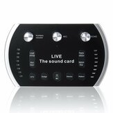 Bakeey B5 Sound Card DSP Luminous Audio Interface Stereo Sound Components Live Streaming Music Live Broadcast Recording