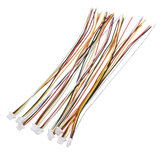 Excellway® 20Pcs Mini Micro JST 1.0mm SH 4 pines Conector Enchufe con Alambre Cables 300 mm