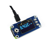 Waveshare® 1.3 inch OLED HAT Blue Display Expansion Board 128x64 Resolution SPI Display Support for Jetson Nano