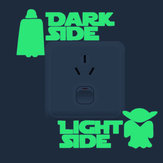 Miico Creative Movie Roles Sumurai Light Luminous Stickers PVC Removable Home Room Decorative Wall Switch Decor Sticker