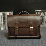 Men PU Leather Multi-Pocket Handbag Business Bag Laptop Bag Shoulder Bag