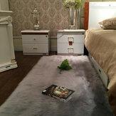 90x60cmFauxwolpluchetapijtSoft Shaggy tapijt Home vloeroppervlakte Mat Decoratie
