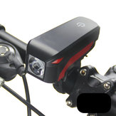 XANES XL04 T6 Bicycle Headlight Electronic Bell Siren Alert Trumpet USB Charge 140DB
