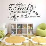 Famille Amour Arbre Citations Wall Sticker Art Salon Stickers Amovibles Décor À La Maison