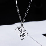 SHENLIN S925 Tiny Letter Pendant Necklace for Women Charms Link Chain Necklaces Jewelry