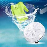 غسالة ملابس محمولة صغيرة تعمل بالموجات فوق الصوتية ، غسالة تعمل بالموجات فوق الصوتية ، تعمل بالموجات فوق الصوتية USB ، للسفر والتخييم المنزل