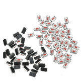 AOQDQDQD 100pcs 3*6*2.5mm 3*6*2.5H SMD Red Button Switch Key Switch Tact Switch