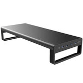Vaydeer USB 3.0 Aluminum Monitor Stand Laptop Stand Metal Riser Support Transfer Data Charging