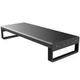 Vaydeer USB 3.0 aluminium monitorstandaard laptopstandaard Metal Riser-ondersteuning Overdracht van gegevens opladen