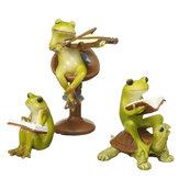 Leuke Kikker Standbeeld Beeldje Home Office Ornament Tuin Bonsai Decor Gift