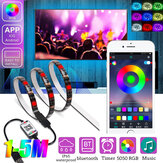 1M / 2M / 3M / 4M / 5M RGB LED Tira de luz IP65 Impermeable bluetooth Control 5050 USB Bar TV Luz de fondo