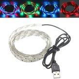 100CM 60 SMD 3528 USB LED Strip RGB Light WaterProof IP65 5V