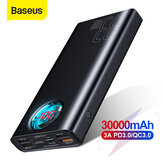 Baseus 30000mAh Power Bank 5 uscite e 3 ingressi 18W USB-C PD3.0 QC3.0 Ricarica rapida LED Digitale Display Esterno Batteria Per iPhone 11 SE 2020 Per Huawei Xiaomi