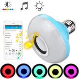 E27 8W Głośnik Bluetooth RGBW LED Żarówka Wireless Music Playing Remote Control AC110-240V