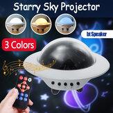 Noite estrelada lâmpada rotativa estrela mesa luz projetor bluetooth Controle Remoto