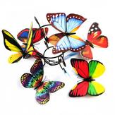 10 sztuk 3D podwójne kawałki Colorful Motyl naklejki ścienne lodówka magnes Home Decor Art aplikacja