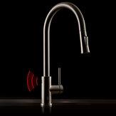 Marca Diiib Antibacteriana Indução Automática Sensor Pia para Cozinha em Aço Inoxidável Torneira sem toque com mãos livres Misturador de água fria e quente Torneira removível