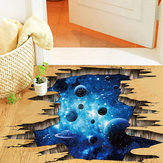 Miico Creative 3D the Milky Way Broken Wall Removable Home Room Decorative Wall Floor Decor Sticker