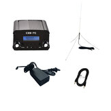 CZERF CZE-7C 1W/7W Wireless PLL Stereo FM Transmitter with Outdoor GP1 Antenna Kits