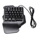 34 Keys One Handed Keyboard Game Mini LED Bakbelysning Ergonomisk Enkelt tastatur for LOL / Dota