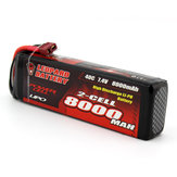 LEOPARDO Power 7.4V 8000mAh 40C 2S TRX Plug Lipo Bateria para TRAXXAS SUMMIT RC Car
