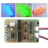 Geekcreit DIY Warning Strobe Light Kit Parts CD4017 Thunderbolt Flash LED Electronic Kit