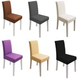 Pure Color Seat Cover Spandex Stretch Wedding Banquet Chair Cover Party Decor Dining Room Seat Cover