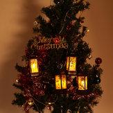 Père Noël Bonhomme De Neige Jésus Elk Motif Suspendu Noël Simulation Flamme Vacances Nuit Lumière Décor