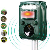KC-501 Garden Solar Powered Ultrasonic Outdoor Animal Repeller Motion Sensor Flash Light Dog Cat Raccoon Rabbit Animal Dispeller