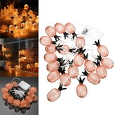 Battery Powered Warm White Metal Pineapple Shaped Indoor LED Fairy String Light for Christmas Party