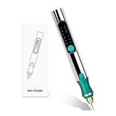 25000 U / min Tragbarer Mini-Elektroschleifer 3 Gänge Carving Rotary Pen Bohrer Gravierschleifwerkzeug W / Batterie Indikator