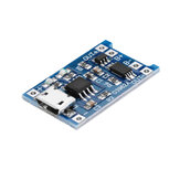 TP4056 Micro USB 5V 1A Placa de Módulo de Carregamento de Bateria de Lítio TE585 Carregador Lipo