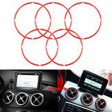 5 stk. Rørluftsventil Outlet Ring Cover til Mercedes Benz CLA GLA180 200 220 260