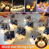 Zasilanie bateryjne Sowa LED String Fairy Light DIY Halloween Christmas Party Home Decor