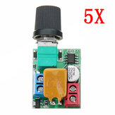 5pcs DC 5V To 35V 5A Mini Motor PWM Speed Controller Ultra Small LED Dimmer Speed Switch Governor